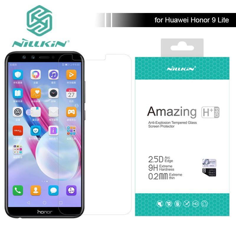 Pour Huawei Honor 9 Lite Nillkin 9 H Incroyable H/H + Pro 5.65 pouce Trempé Protecteur D'écran En Verre Pour Huawei Honneur 9 Lite Verre
