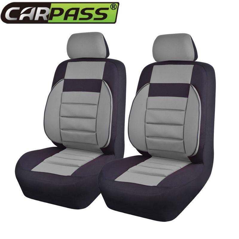 Ensemble de couverture de siège de voiture éponge Composite en tissu maille passe-partout universel pour la plupart des sièges de véhicules