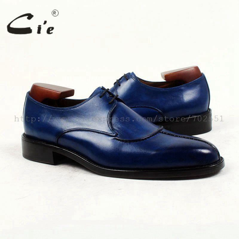 Cie Zapato de Punta Redonda de Cuero de Los Hombres A Medida Personalizada Hecha A Mano de Los Hombres Zapatos 100% Cuero Genuino Del Becerro Suela Transpirable Zapato De Cuero D132