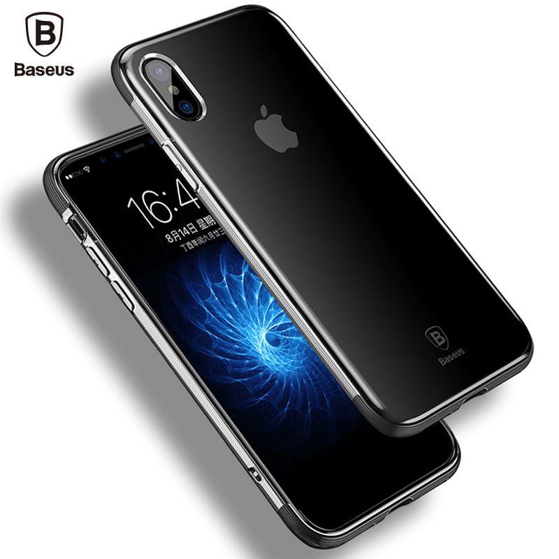 Baseus Antichoc Armure Cas Pour iPhone X 10 De Luxe Doux TPU de Protection En Silicone de Couverture Arrière Pour l'iphone X Coque Shell Capinhas