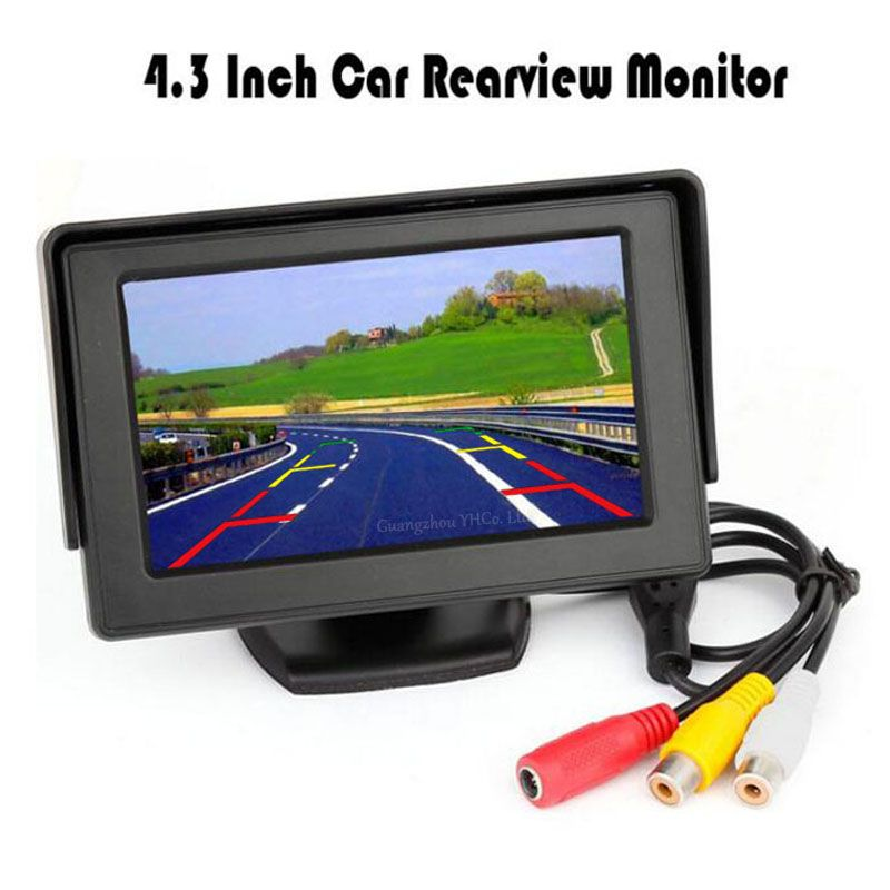 Koorinwoo 4.3 Inch LCD TFT Screen Monitor Display Colorful Screen 800*480 Resolution For Car Rear View backup Reversing Camera