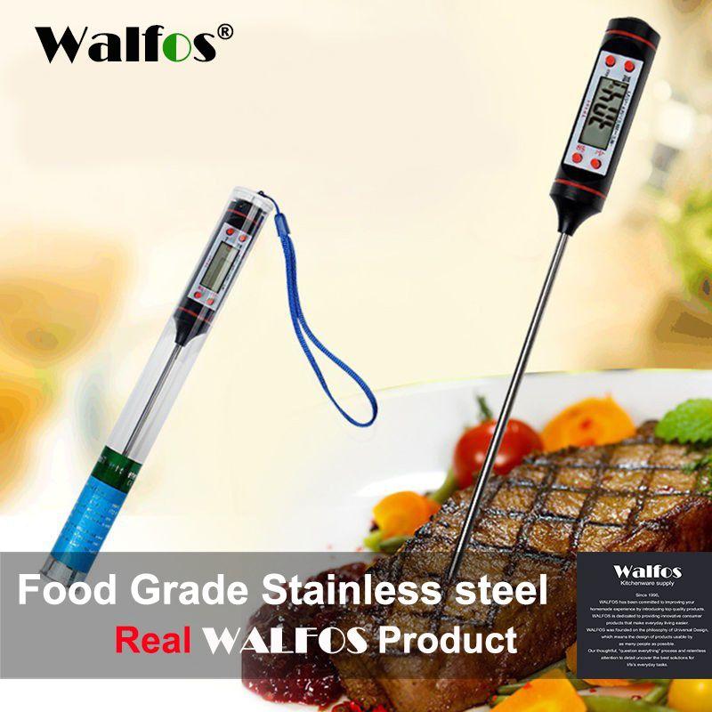 WALFOS Digitale Sonde ofen Fleisch-thermometer Küche BBQ Food Thermometer Kochen Edelstahl Faltbare Sonde Fleisch Türkei