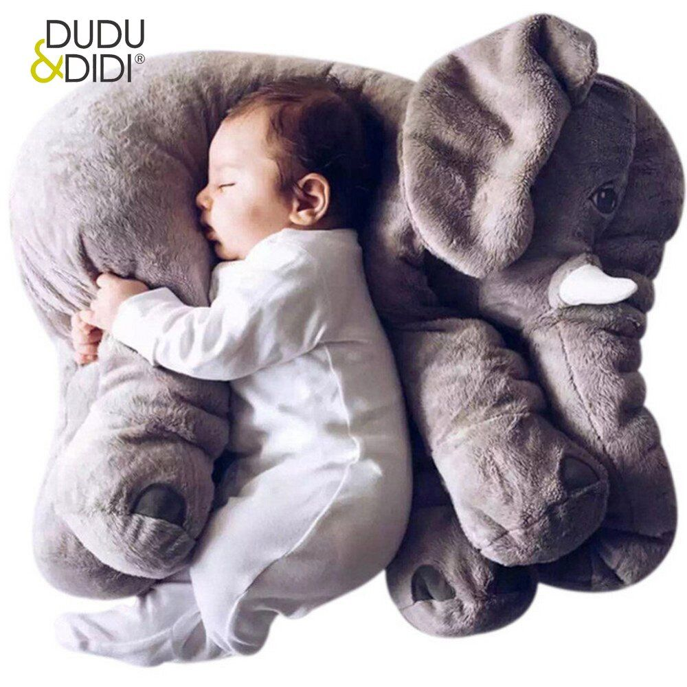 40/60 CM Éléphant En Peluche Oreiller Infantile Doux Pour Dormir En Peluche Animaux En Peluche Jouets de Bébé Playmate cadeaux pour enfants WJ346