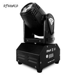 DJWorld LED 10 w Tête Mobile Spot Luces Discoteca Éclairage de Scène effet Pour Nuit Lumière DJ KTV Disco Faisceau Lumières Très Professiona