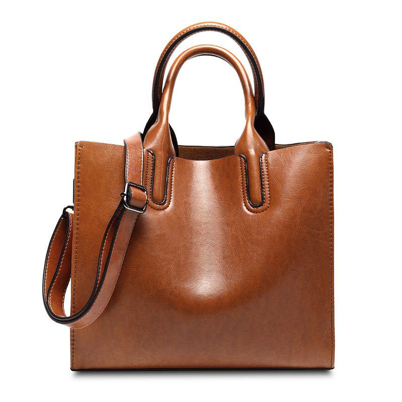 Amasie Nouvelle Arrivée Grand Fourre-Tout Office Lady Mode Sac À Main En Cuir Véritable Vintage Sac Bolsas Bolsos Sac À Main EGT0102