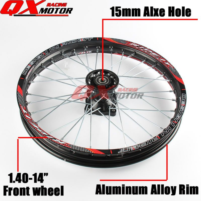 Dirt bike Front Wheels 1.40x14