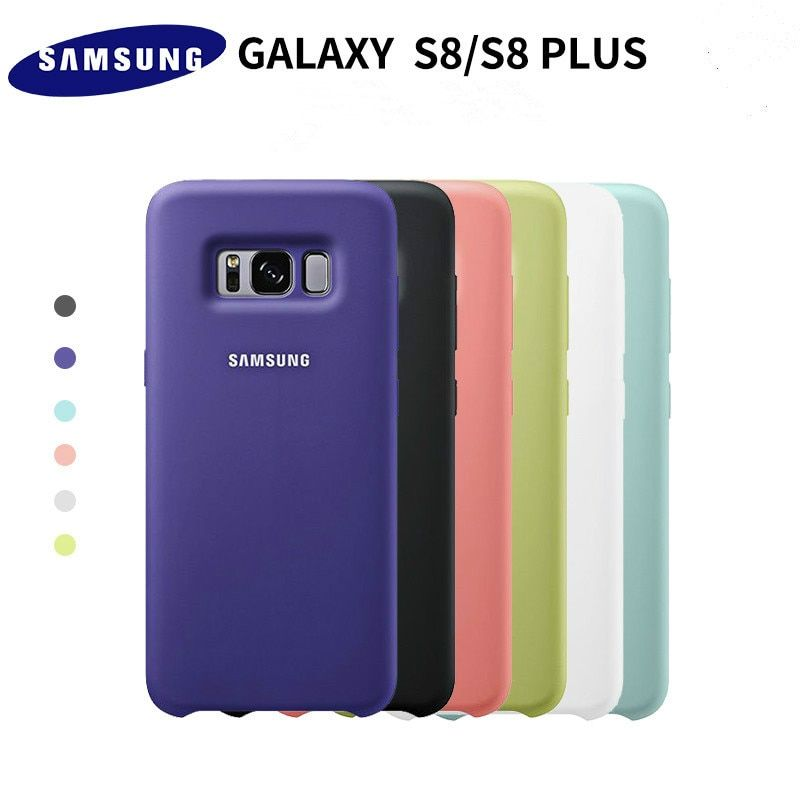 100% Original Samsung Silicone Cover Case for Samsung Galaxy S8 S8 PLUS g9550 9500 EF-PG950 - 6 colors Anti-Wear Protection