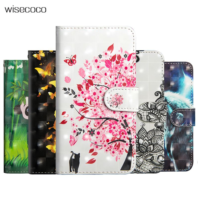 3D Leather Flip Case For Xiaomi Mi 8 Se 6X 5X A1 A2 Max 2 Wallet Stand Phone Cases For Redmi S2 Y2 5 Plus Note 4 4X 5A Prime Pro