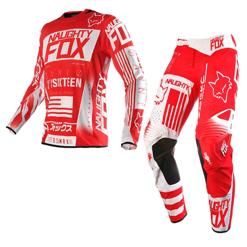 2018 New Design NAUGHTY 180 Off-Road Racing Suits Jersey+Pants DH MTB MX AM Motocross Combos Downhill Dirt Bike Set