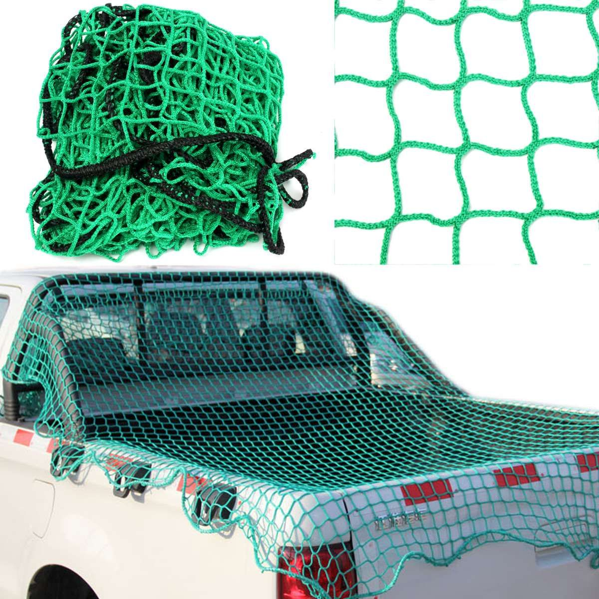 200cm x 300cm Cargo Net Bungee Pickup Car Truck Cargo Trailer Dumpster Extend Mesh Net Covers Roof Luggage
