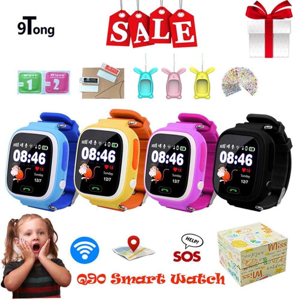2018 Meilleur Bébé Montre Smart Watch pour Enfants Q90 Enfants montre Smart watch GPS WIFI Emplacement Tracker Enfant GPS Montre Téléphone Tactile écran Horloge