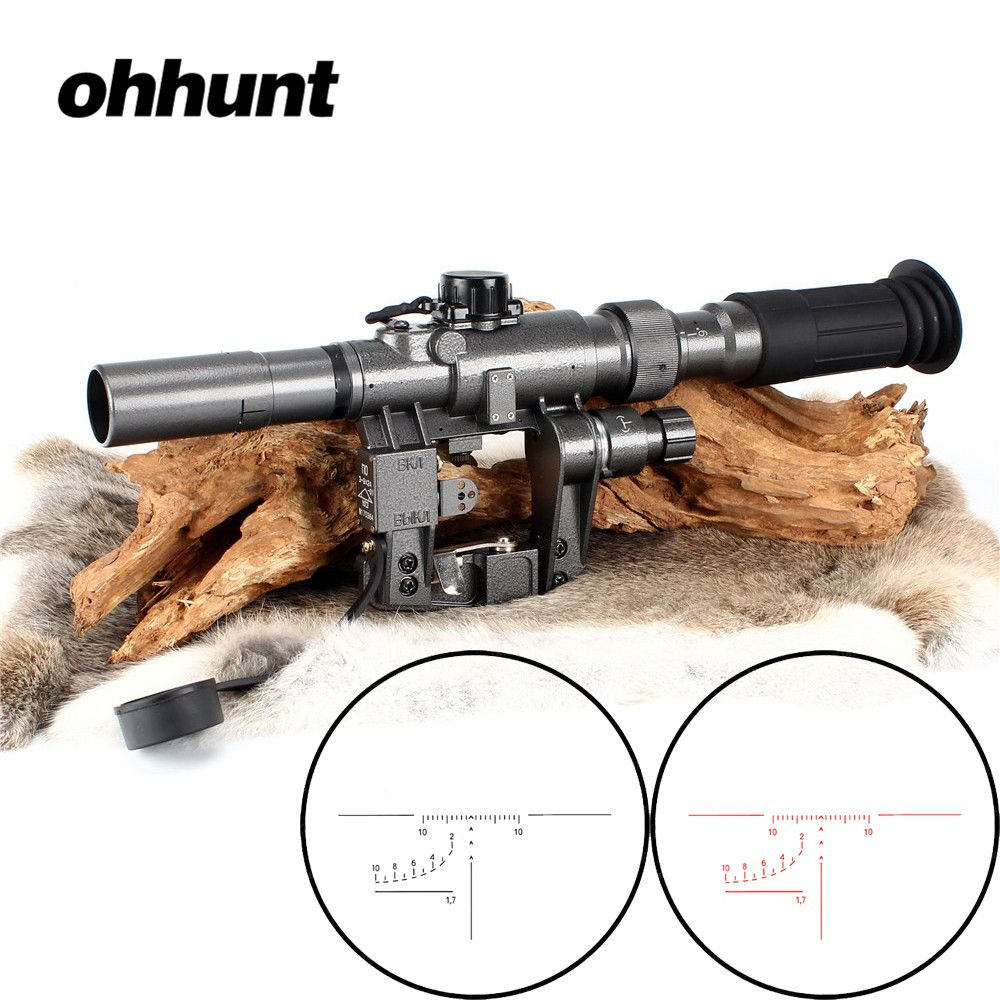 Tactical Rifle Scope Red Illuminated 3-9x24 SVD Sniper RifleScope