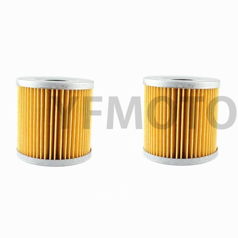 2Pcs Motorcycle Oil Filter For Kawasaki ZL600 A1,A2 86-87 ZL600 B1-B2 Eliminator 95-98 ZX550 Unitrack (GPZ550)