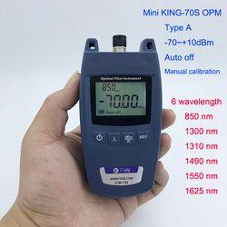 Mini FTTH medidor de potencia óptica king-70s tipo a OPM Fibra óptica cable tester-70dbm ~ + 10dbm SC/ universal FC conector de interfaz