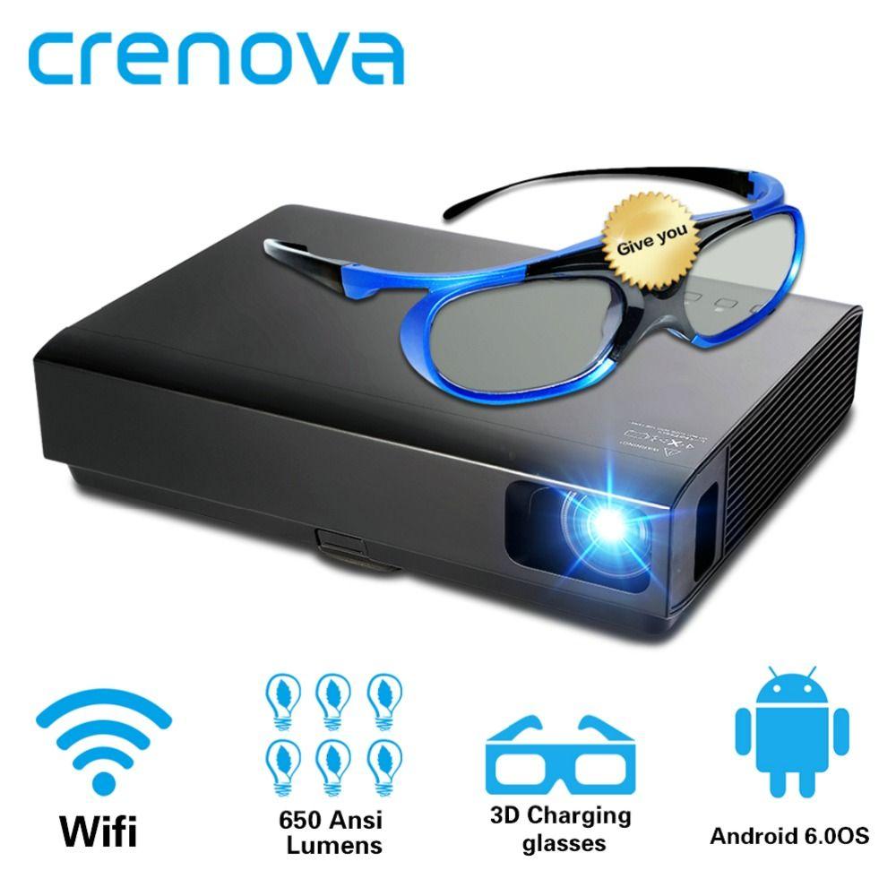 CRENOVA 2019 Neueste Laser Projektor Mit Android WIFI Bluetooth DLP Projektor Für Heimkino Film Beamer Shutter 3D Proyector