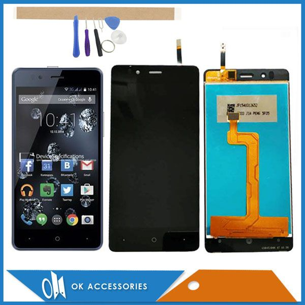 4.7 Inch For Highscreen Ice 2 Ice2 LCD Display+Touch Screen Sensor Glass Digtizer Assembly Black Color With Tools & Tape