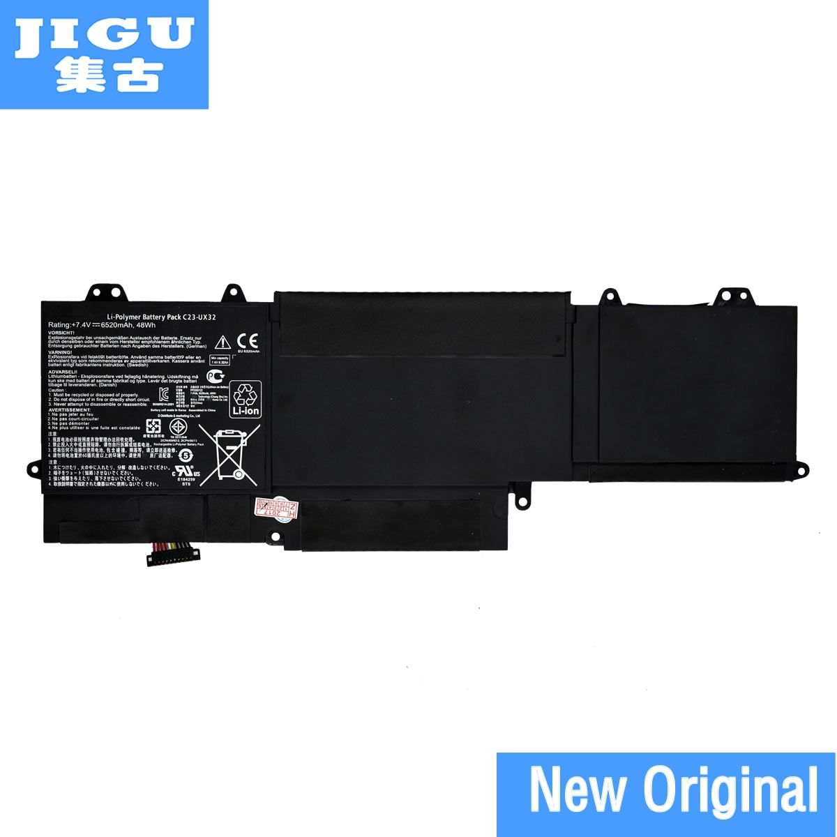 JIGU C23-UX32 Original laptop Battery For Asus VivoBook U38N U38K U38DT for Zenbook UX32 UX32VD UX32LA 7.4V 48WH