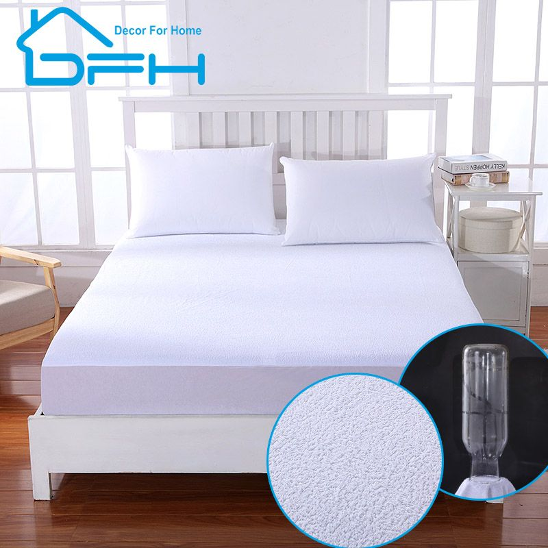 matelas ALL Size Terry Waterproof mattress protector cover For Bed Wetting And Bed Bug Suit For <font><b>Russian</b></font> Mattress Size