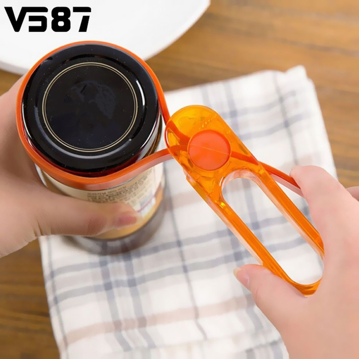 Multipupose Adjustable Rubber Strap Jar Bottle Can Opener Resin Plastic Openers Wrench Practical Kitchen Tool Kitchenware