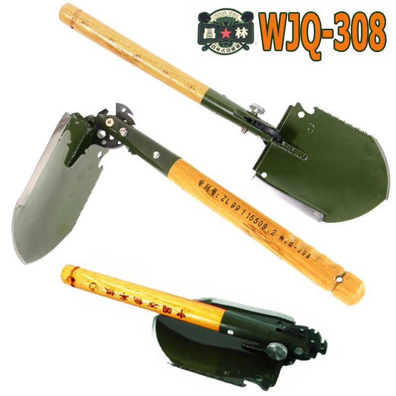 2017 chinese military shovel folding portable shovel WJQ-308 multifunctional camping shovels hunting edc outdoor survival shovel