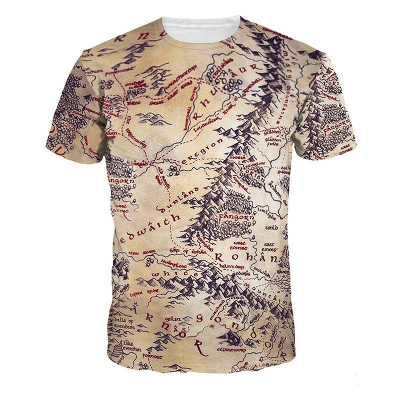 Смешные футболки Для мужчин Географические Карты узор американский Стиль Лидер продаж Для Мужчин's лето-осень Пользовательские печати коро...