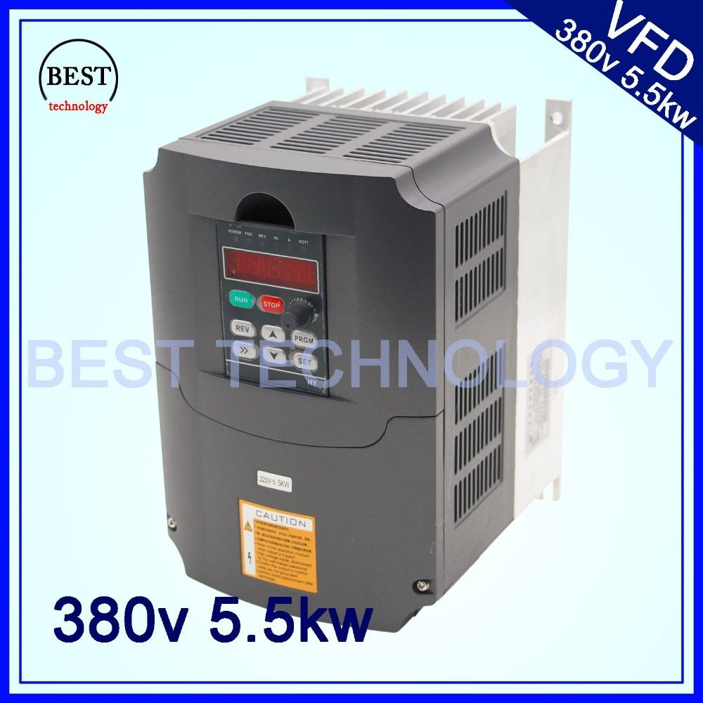 380v 5.5kw VFD Variable Frequency Drive Inverter / VFD 3HP Input 3HP Output CNC spindle Driver spindle speed control