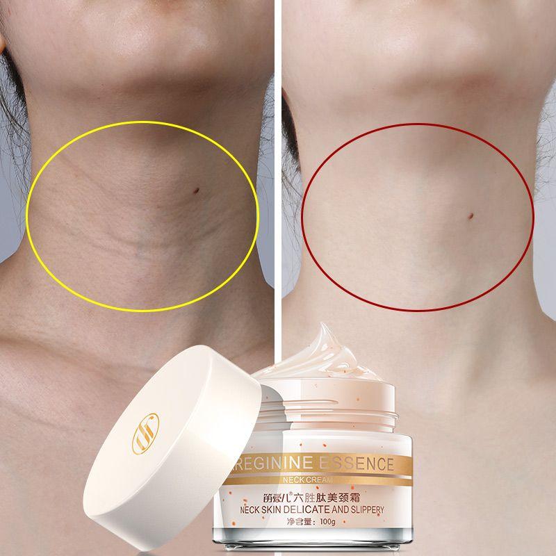 100g Six Peptides Cou Crème Anti Rides Enlever Le Cou Masque Blanchissant Raffermissant pour le Cou Masque Soins de La Peau Délicate et glissante