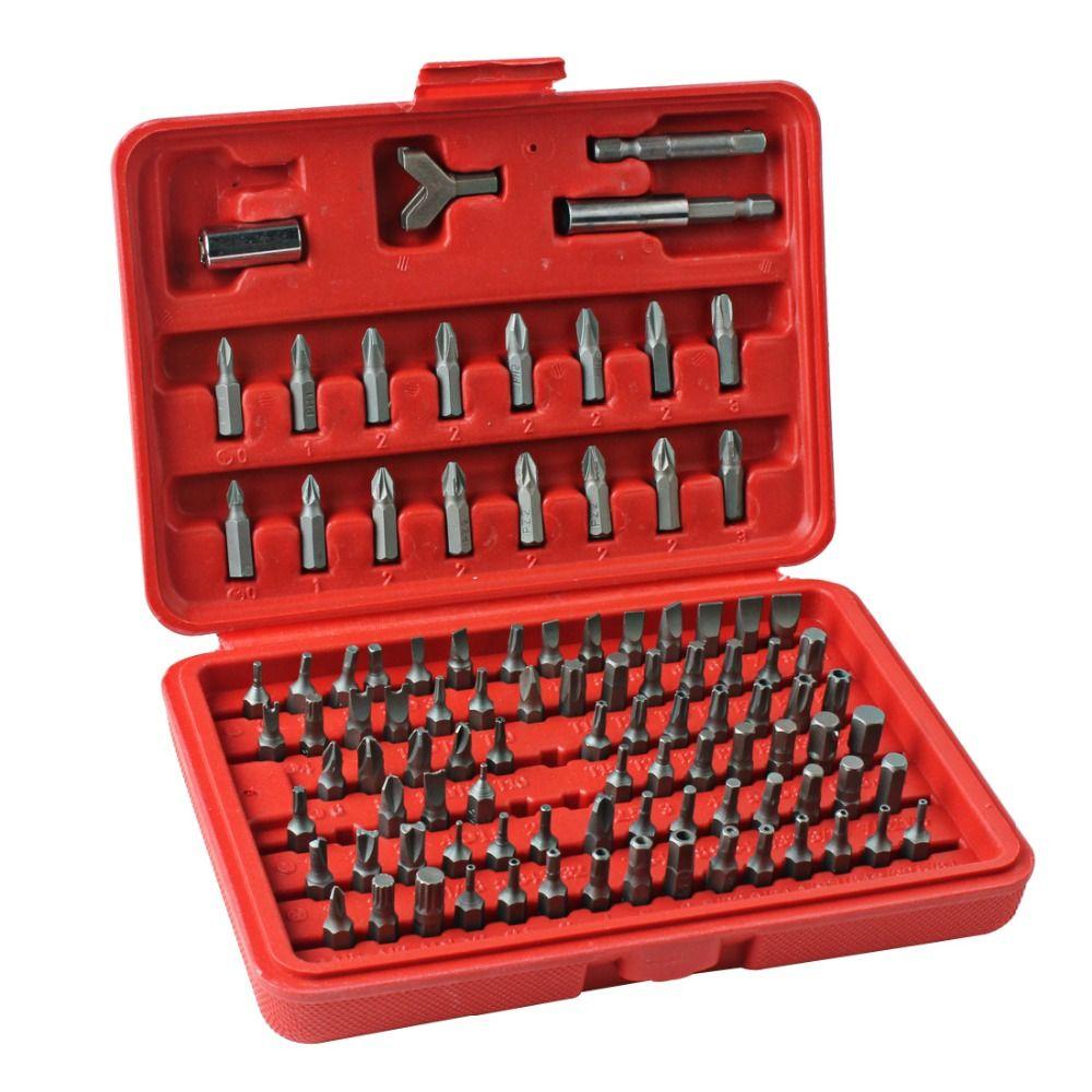100pcs/set Professional <font><b>Screwdriver</b></font> Bits Set Sturdy Chrome Vanadium Steel <font><b>Screwdriver</b></font> Head Set Torx Hex Bit Set with Case