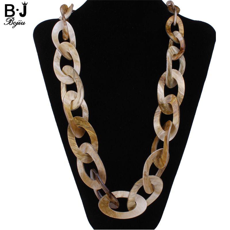 Rond En Plastique Lien bijoux collier long couleurs nouveau 2017 mode qualité Acrylique bijoux