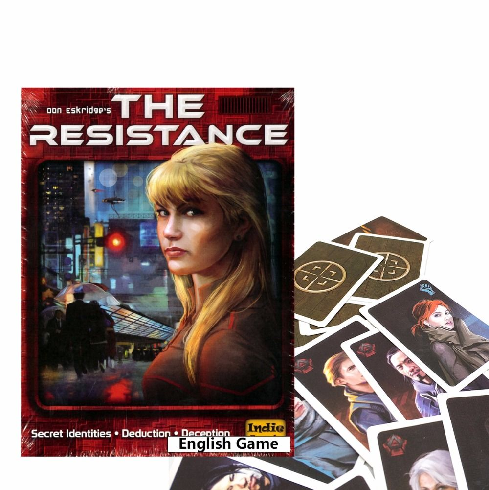 English version The Resistance game for adult another COUP series board game playing cards