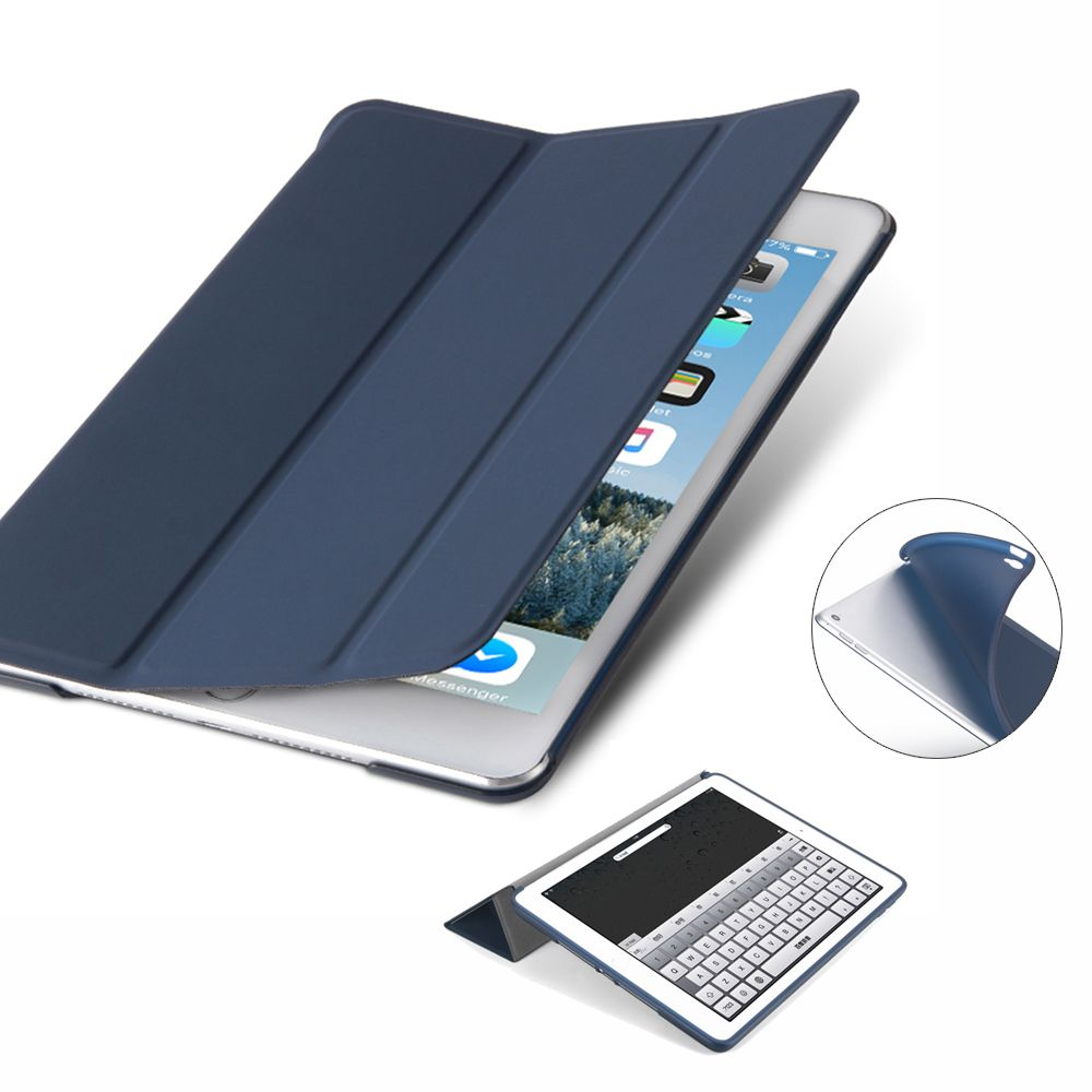 DOWSWIN case for ipad air 2 pu leather smart case for ipad 6,tpu back cover for ipad air 2 soft case wake up and sleep for A1566