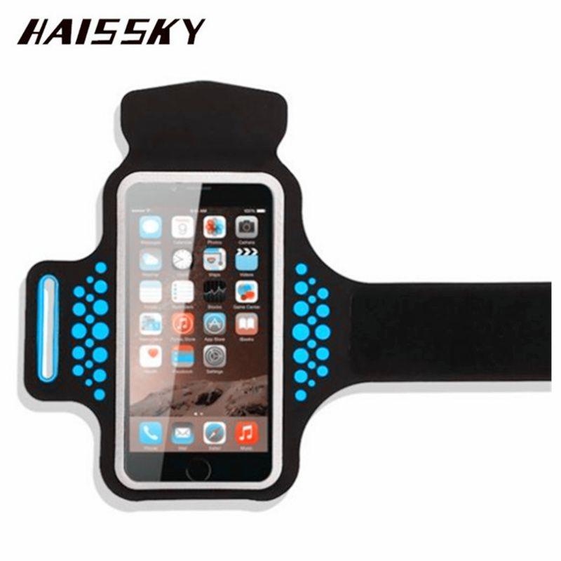 HAISSKY Sport Running Armband Case For iPhone X 8 Plus 7 Plus 6 6s Plus Samsung Galaxy S8 Plus Xiaomi Mi5 Touch Screen Arm Belt