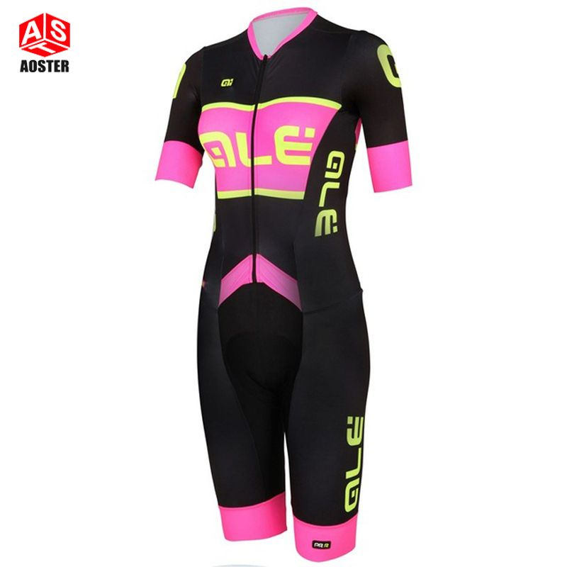 2016 four color short Sleeve Cycling Skinsuit women's Triathlon Sports Clothing Cycling Clothing Ropa De Ciclismo Maillot