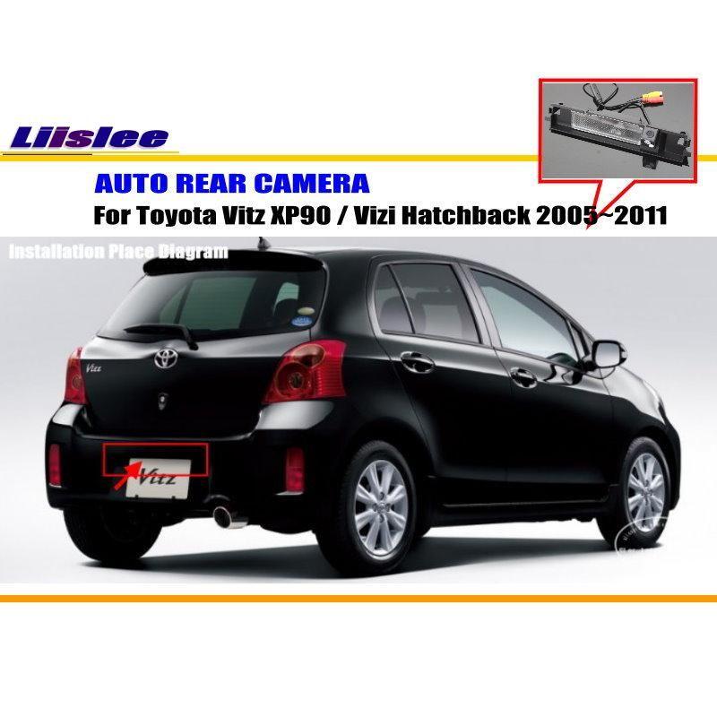Liislee Rückfahrkamera Für Toyota Vitz XP90/Vizi Fließheck 2005 ~ 2011/zurück Parkplatz Kamera/NTST PAL/Kennzeichenleuchte OEM