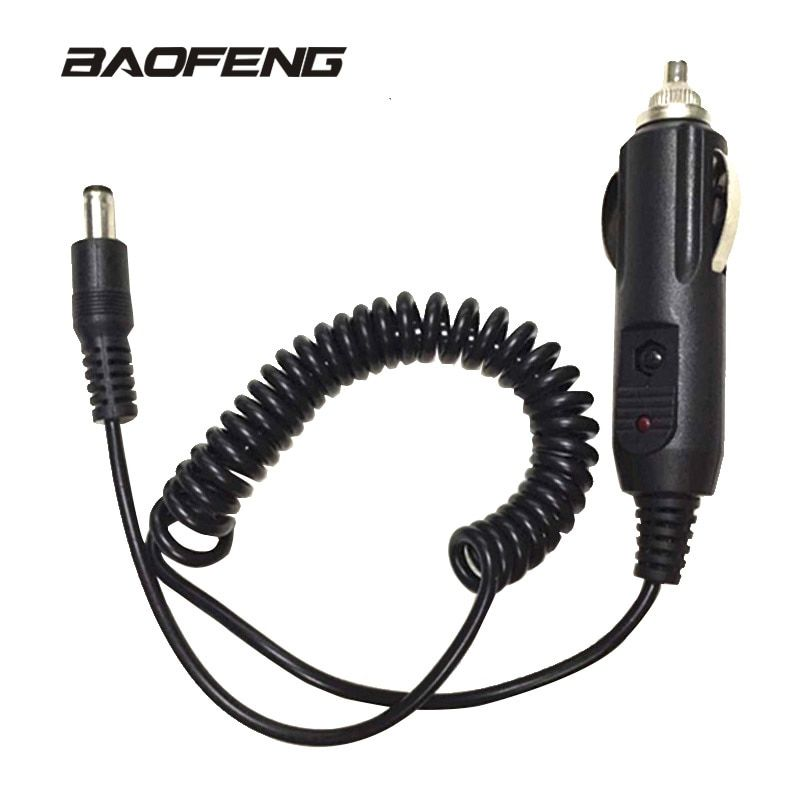 Car Charger cable  For Baofeng walkie talkie  for UV 5R UV-5RE 888S UV82 Portable Radio  Accessories