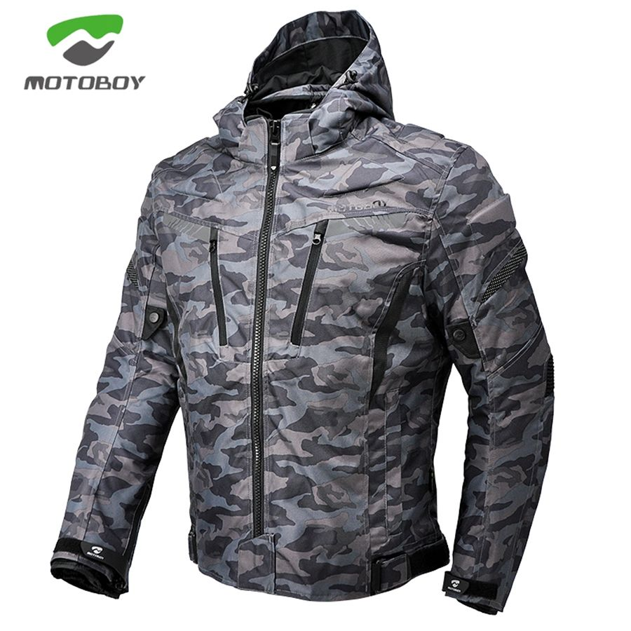 Free shipping 1pcs Men Winter Motorbike Camouflage Waterproof Warm CE Protect Cordura Textile Motorcycle Jacket With 5pcs Pads