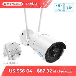 Reolink Wi-Fi Камера 4MP 2.4 г/5 г HD IP Камеры со Слотом SD Карты Беспроводное Уличное Водонепроницаемое Видеонаблюдение Безопасности RLC-410W