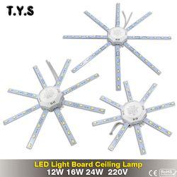 Hohe Helle LED-licht Decke Lampe Energie Spar Lampe 24 W 16 W 12 W 220 V PCB Board Geändert lichtquelle Led-lampe Platte Octopus