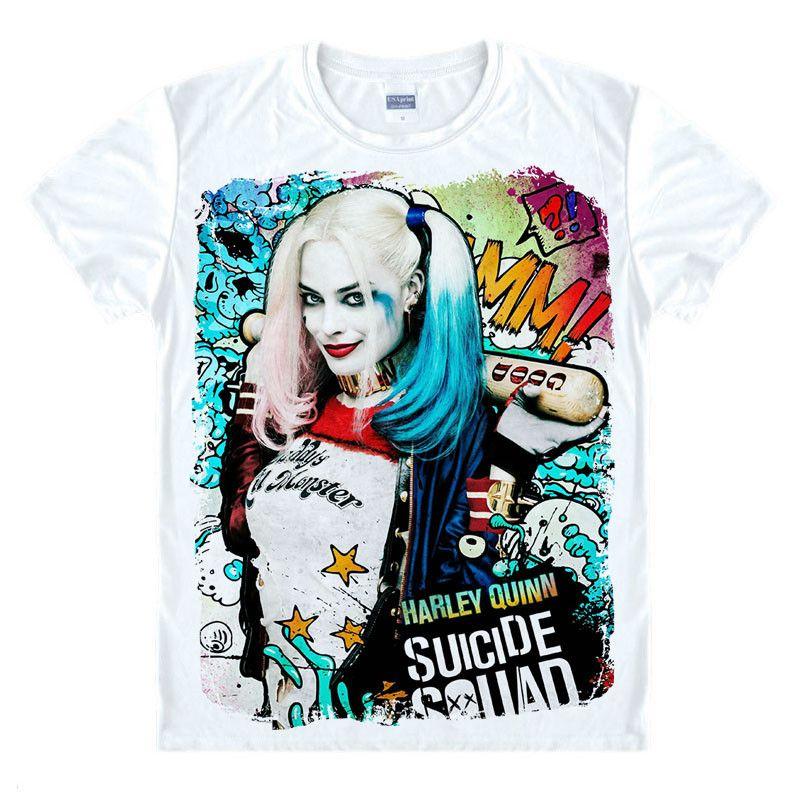 Batman Suicide Squad Joker Harley Quinn T-shirt Cosplay Costume clown papa Lil Cosplay monstre uniforme unisexe t shirt