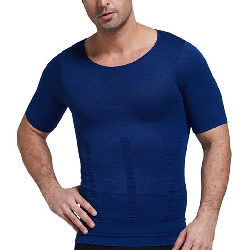 Compression T-shirts minceur corps Shaper poitrine liant dos Posture taille ventre réducteur de graisse tondeuse justaucorps correctif Shapewear