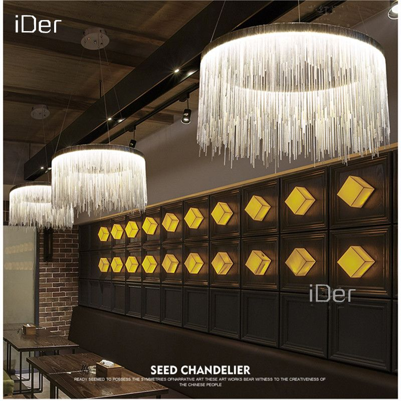 Modern high - end villa art personality lamps simple atmosphere chain chandelier Nordic bedroom living room restaurant lights