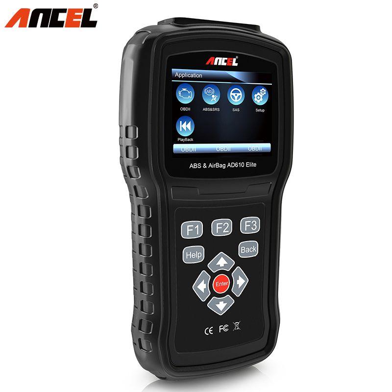 Ancel AD610 OBD2 Car Engine Diagnostic Tool ODB2 Automotive Scanner Crash Data Reset ABS SRS Airbag Air Bag Automotivo Scan Tool