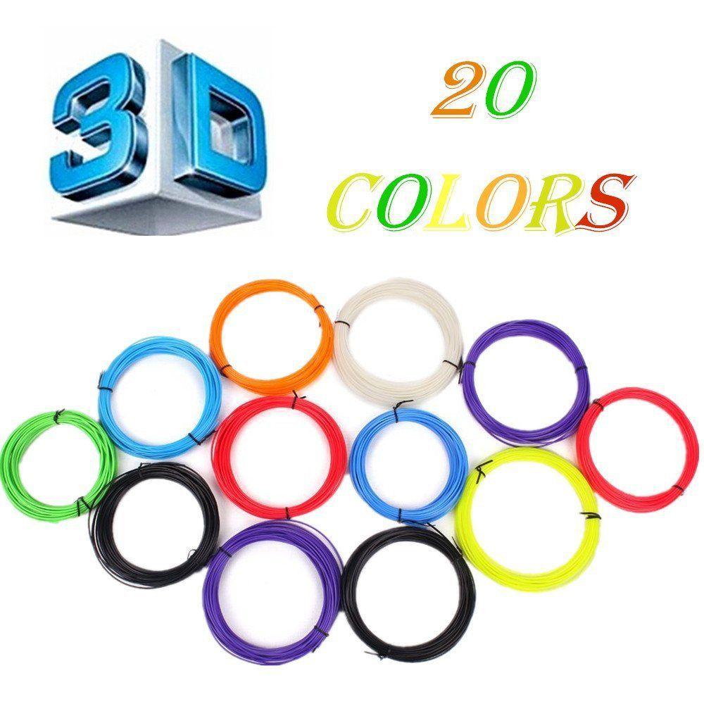 Новый 20 шт./компл. 200 м 3D-принтеры ручка накаливания ABS/PLA 1.75 мм Пластик резиновая расходных материалов Материал 3D Ручка нити бесплатная доста...