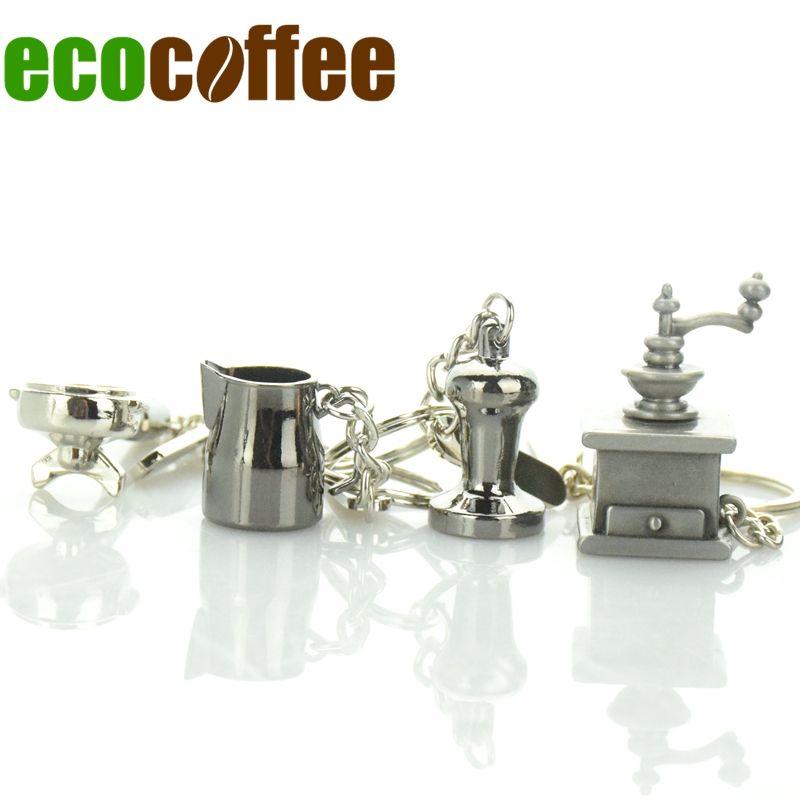 Diy Бесплатная доставка запаслись эспрессо аксессуары брелок Кофе вскрытия брелок Profilter/кувшин/чайник/Мока продвижение