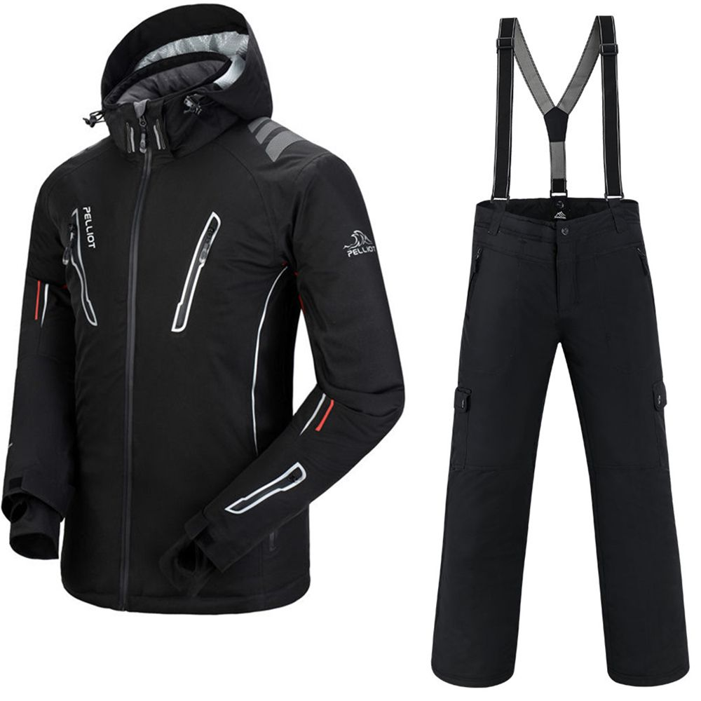 Ski Suit Men Pelliot Ski Jacket + Saenshing Snowboard Pants Breathable Skiing Snowboarding Winter Snow Set Super Warm Waterproof