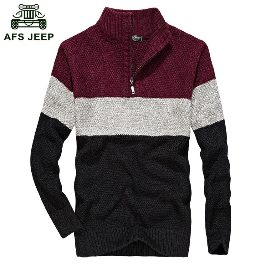 2018 New AFS JEEP Mens Pullover Sweaters Autumn And Winter Casual Knitwear Male Pullovers Classic Men's Wool Sweaters D80
