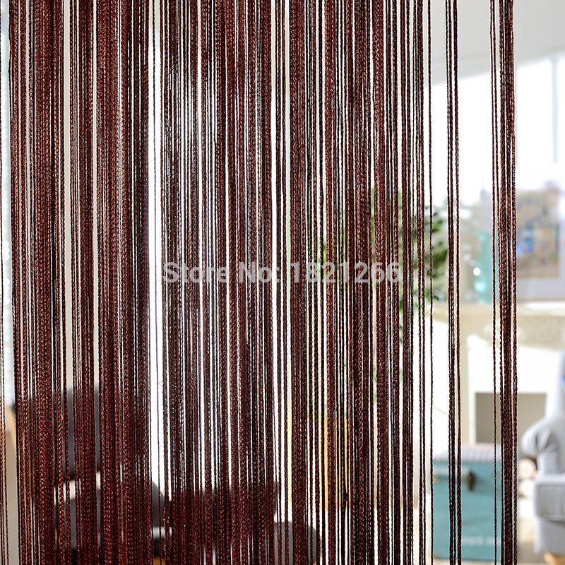Rideau de couleur unie 300*260 cm café gris blanc noir classique ligne rideau fenêtre aveugle Vanlance diviseur de pièce