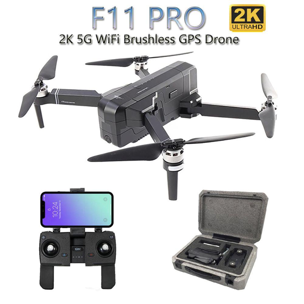 SJRC F11 PRO 5G WiFi RC Drone GPS Faltbare Drohnen Mit 2K Kamera HD Bürstenlosen Quadcopter Drone 28 minuten Flugzeit VS F11 SG906