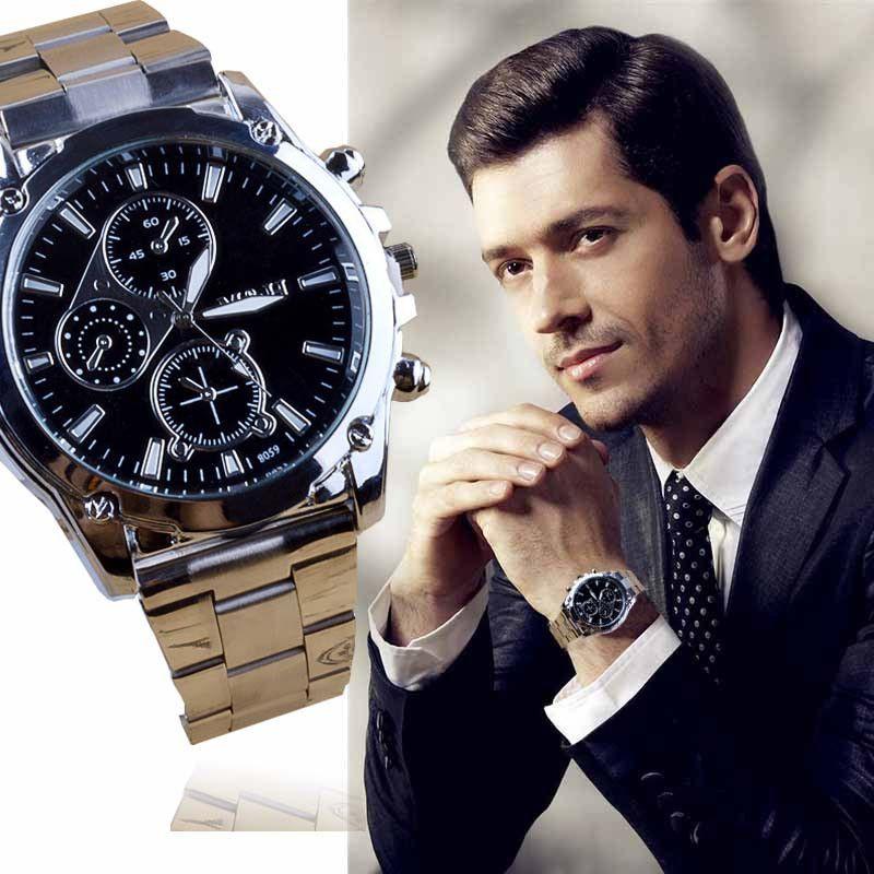Relojes Hombre 2017 de Los Hombres de Lujo de Cuarzo Reloj de Los Hombres de Negocios de Acero Inoxidable Banda Reloj Deportivo Horas Reloj Relogio masculino