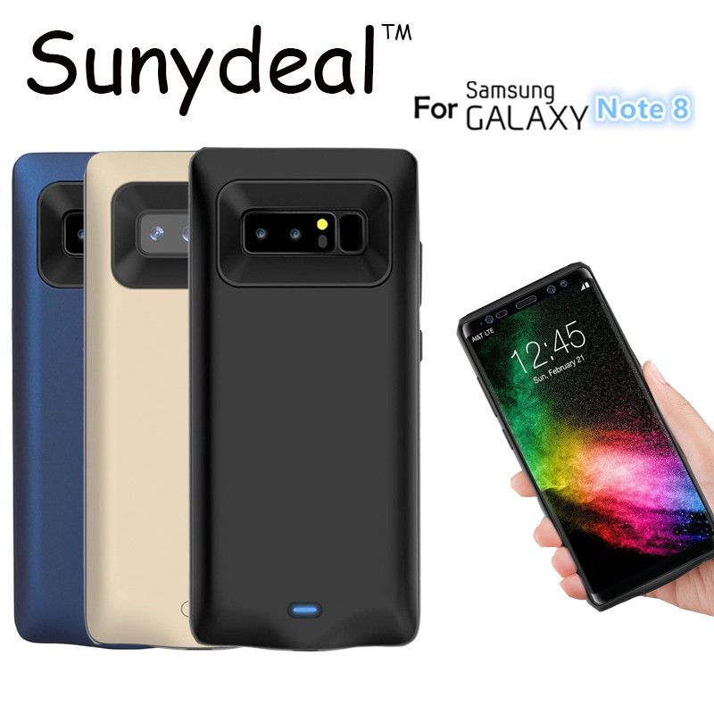 Battery Charger Case For Samsung Galaxy Note 8 Power Bank Charger Cover Case For Note 8 Portable External Backup Cover